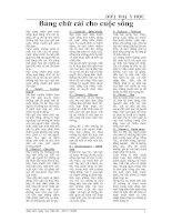 Bảng chữ cái cho cuộc sống- Diễn đàn y học