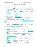 Đề thi thử  ĐH năm 2009 của Tạp chí Hóa học & ứng dụng