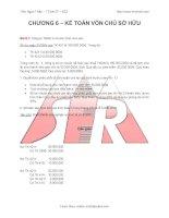 Bài tập kế toán vốn chủ sở hữu
