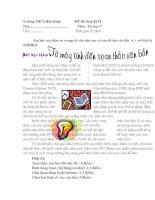 Đề thi và đáp án tin học 7