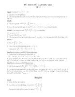 Đề và ĐA thi thử ĐH2009 (Đề số 14)