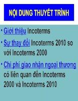 Thuyết trình incoterms 2010