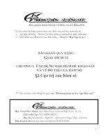 Bài giảng: Cực trị của hàm số (Giải tích 12 - Chương I: ỨNG DỤNG ĐẠO HÀM ĐỂ KHẢO SÁT VÀ VẼ ĐỒ THỊ HÀM SỐ)