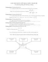 Các bài toán lien quan tham số(On2009_ngoại cảm)