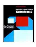 A pratical english grammar   exercises 2