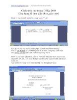 Cách trộn thư trong Office 2003