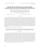 NGHIÊN CỨU CHIẾT TÁCH ANTHOCYANIN TỪ ĐÀI HOA HIBISCUS SABDARIFFA- ỨNG DỤNG ĐỂ SẢN XUẤT GIẤY CHỈ THỊ PHÁT HIỆN NHANH HÀN THE TRONG THỰC PHẨM