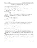 Một số công thức toán học lớp 10&11