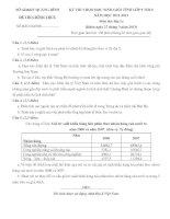ĐỀ THI CHỌN HỌC SINH GIỎI TỈNH LỚP 9 THCS NĂM HỌC 2012-2013 Môn Địa Lí - SỞ GD&ĐT QUẢNG BÌNH