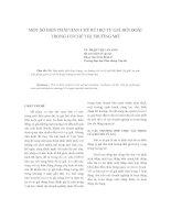 MỘT SỐ BIỆN PHÁP HẠN CHẾ RỦI RO TỶ GIÁ HỐI ĐOÁI TRONG CƠ CHẾ THỊ TRƯỜNG MỞ