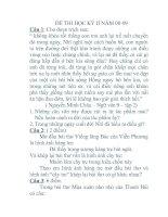 ĐỀ THI HỌC KỲ 2 NGỮ VĂN 9 KỲ 2