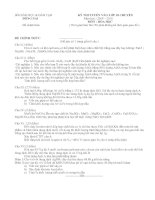 Đề Hóa TS lớp 10 chuyên Đ.Nai 09-10