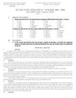 Đề thi chuyên Anh PTNK TPHCM 2005-2006