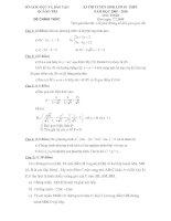 Đề thi thử vào lớp 10 môn toán Quảng Trị 2009 2010