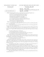 Đề thi HS giỏi Hóa 9 Tỉnh Quảng Nam 07-08