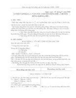 Giáo án dạy bồi dưỡng vật lý 8 (08-09)