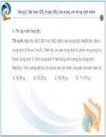 Bài toán về CO2(SO2) tác dụng với dung dịch kiềm