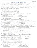 400 câu trắc nghiệm tổng  hợp hóa 10