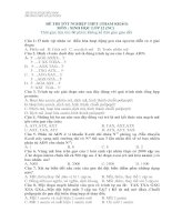 Đề tham khảo ôn thi TNPT môn sinh (4)