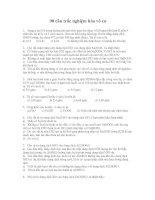 90 câu trắc nghiệm hóa vô cơ