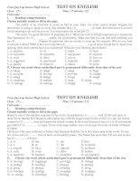 KT 15 phut lan 3 kỳ 2 grade 12 CB