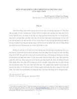 MỘT SỐ KỊCH BẢN CHO CHÍNH SÁCH THƯƠNG MẠI CỦA VIỆT NAM