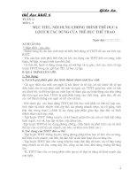 Giáo án THỂ DỤC 6 (trọn bộ)