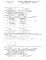Đề thi trắc nghiệm môn hóa đại cương  khối y  RHM  dựơc