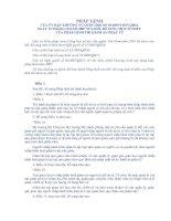 Pháp lệnh sửa đổi, bổ sung một số điều của Pháp lệnh Thi hành án phạt tù