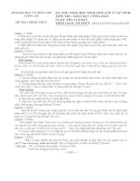 ĐỀ THI CHỌN HỌC SINH GIỎI CẤP LỚP 9 TỈNH NĂM 2011 MÔN GIÁO DỤC CÔNG DÂN – SỞ GIÁO DỤC VÀ ĐÀO TẠO LONG AN