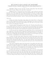 Đáp án câu hỏi 80 năm LS CD VN, NA