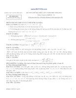 ĐỀ THI THỬ ĐẠI HỌC LẦN 1 NĂM HỌC 2012-2013 Môn Toán 12 Khối B -D TRƯỜNG THPT CHUYÊN VĨNH PHÚC