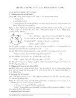 CHUYÊN ĐỀ : CHỨNG MINH 3 ĐIỂM THẲNG HÀNG(ÔN THI THPT)