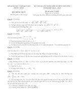 KỲ THI TUYỂN SINH LỚP 10 THPT CHUYÊN NĂM HỌC 2012 – 2013 môn toán