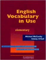 English vocabulary in use ( elementary)   cambridge