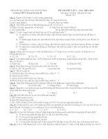 ĐỀ THI THỬ ĐẠI HỌC LẦN 1 MÔN SINH HỌC Năm  2012- 2013 Trường THPT Quảng Xương III