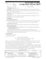 Tiết 11-12 Truyên An Dương Vương và Mị Châu Trọng Thuỷ