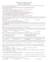 ĐỀ THI THỬ ĐẠI HỌC CAO ĐẲNG MÔN VẬT LÝ ĐỀ 7