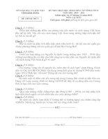 ĐỀ THI CHỌN HỌC SINH GIỎI TỈNH NĂM HỌC 2011-2012 MÔN LỊCH SỬ LỚP 12 THPT - SỞ GIÁO DỤC VÀ ĐÀO TẠO ĐẮK LẮK