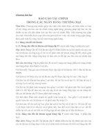 Chương thứ hai BÁO CÁO TÀI CHÍNH TRONG CÁC NGÂN HÀNG THƯƠNG MẠI