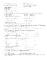 Đề thi kII môn Toan k 11