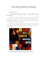 10 ca khúc halloween đáng sợ