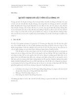 Kinh tế fulbright PHÂN TÍCH tài CHÍNH bài giảng 8b