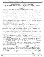 Bài tập Vật Lý 12 trắc nghiệm và tự luận phần ĐIỆN