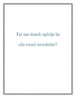 1Tại sao doanh nghiệp lại cần email newsletter