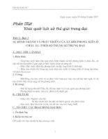 Giáo án Lịch sử 7 trọn bộ