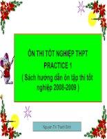 Ôn thi tốt nghiệp- practice 1
