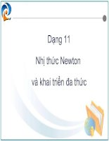 nhị thức newton (tiếp)