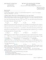 Đề thi tuyển sinh đại học năm 2010 môn vật lý khối a   mã đề 642