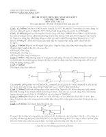 Đề thi HSG Lí 9 Nam Động - Có đáp án